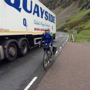 Biker on the highway
